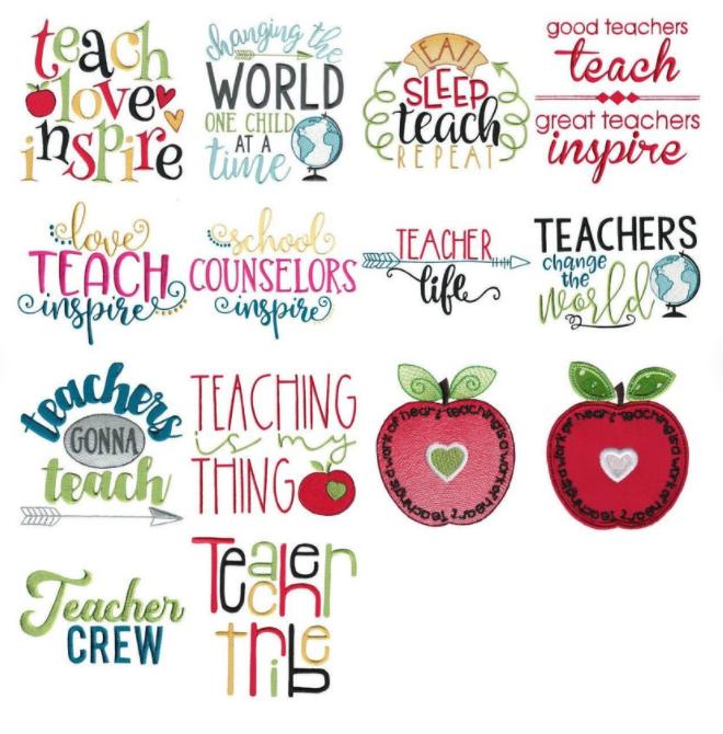 Teacher Embroideries