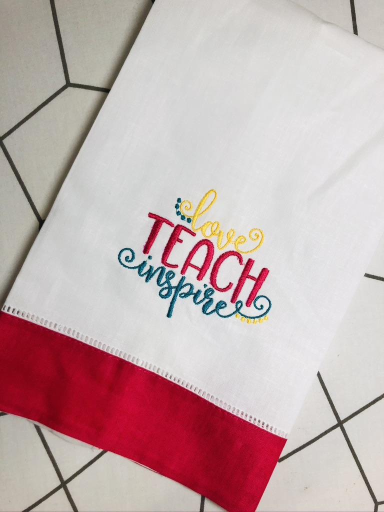 towel blank for teacher