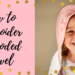 how to embroider a hooded towel