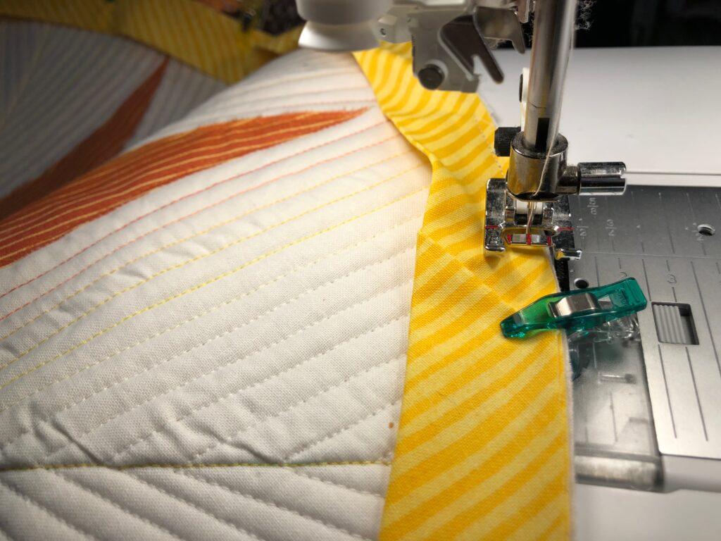 machine sew binding