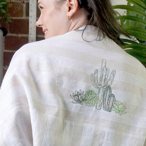 garment sewing linen wrap
