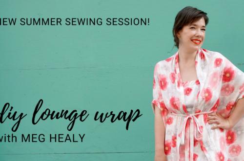 DIY Lounge Wrap Sewing Session