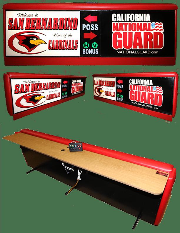 Varsity Scoring Tables | Freestanding & Bleacher Mount Standard or LED Scorer's Tables CNG San Bernardino JCF 6 no Background