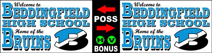 Varsity Scoring Tables | Freestanding & Bleacher Mount Standard or LED Scorer's Tables BEDDINGFIELD Bruins F8