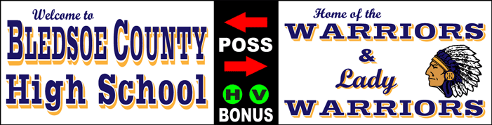 Varsity Scoring Tables | Freestanding & Bleacher Mount Standard or LED Scorer's Tables Bledsoe Warriors F8