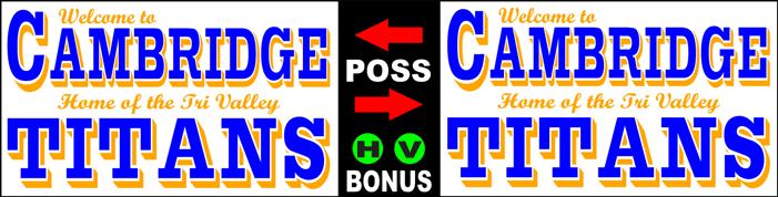 Varsity Scoring Tables | Freestanding & Bleacher Mount Standard or LED Scorer's Tables CAMBRIDGE TITANS F8