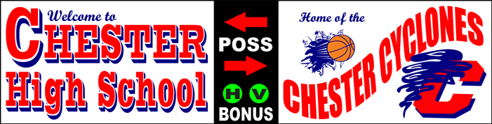Varsity Scoring Tables | Freestanding & Bleacher Mount Standard or LED Scorer's Tables Chester Cyclones F8 Gallery