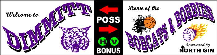 Varsity Scoring Tables | Freestanding & Bleacher Mount Standard or LED Scorer's Tables Dimmitt Bobcats F8