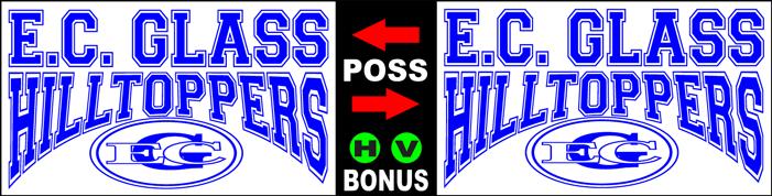 Varsity Scoring Tables | Freestanding & Bleacher Mount Standard or LED Scorer's Tables EC GLASS HILLTOPPERS F8