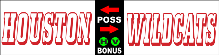 Varsity Scoring Tables   Freestanding & Bleacher Mount Standard or LED Scorer's Tables HARDIN HOUSTON WILDCATS  1