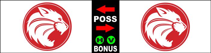 Varsity Scoring Tables | Freestanding & Bleacher Mount Standard or LED Scorer's Tables HARDIN HOUSTON WILDCATS  2