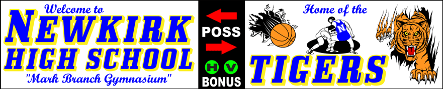 Varsity Scoring Tables   Freestanding & Bleacher Mount Standard or LED Scorer's Tables   NEWKIRK TIGERS F10