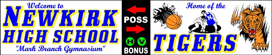 Varsity Scoring Tables | Freestanding & Bleacher Mount Standard or LED Scorer's Tables | NEWKIRK TIGERS F10