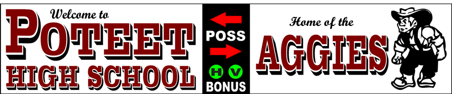 Varsity Scoring Tables | Freestanding & Bleacher Mount Standard or LED Scorer's Tables | POTEET AGGIES F10