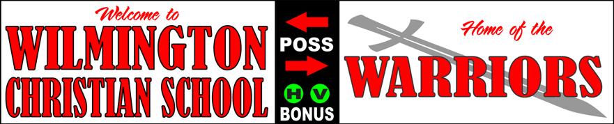 Varsity Scoring Tables | Freestanding & Bleacher Mount Standard or LED Scorer's Tables | WILMINGTON WARRIORS F10