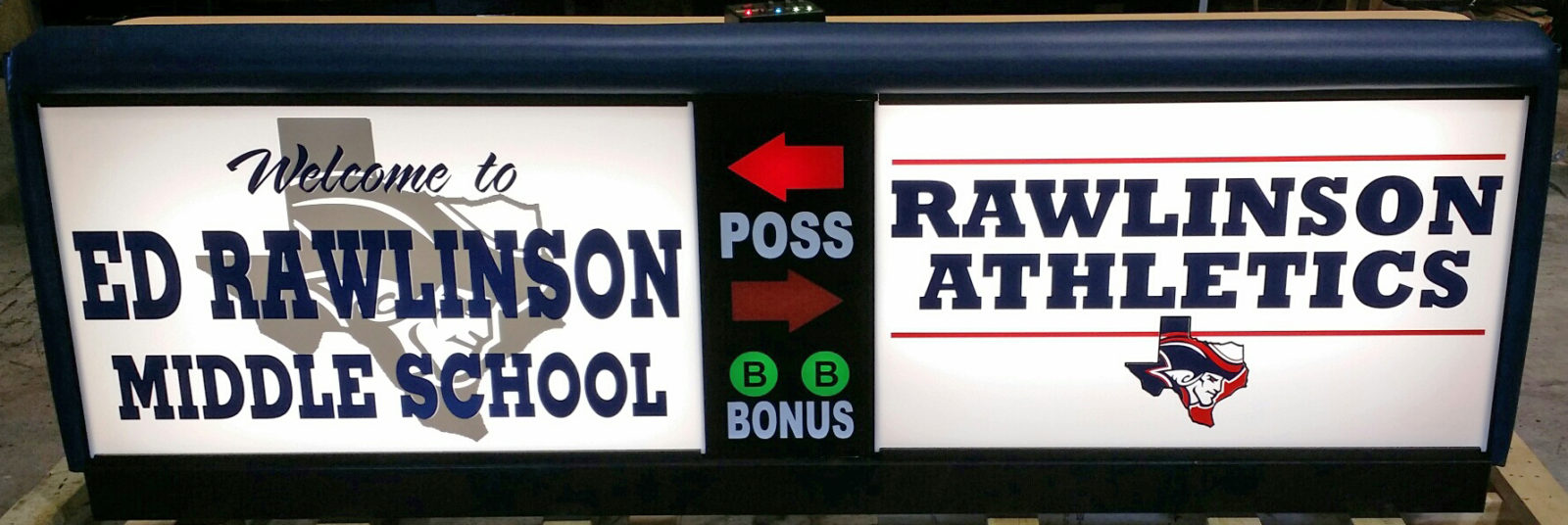 Rawlinson Middle School Freestand Scorer's Table | Varsity Scoring Tables