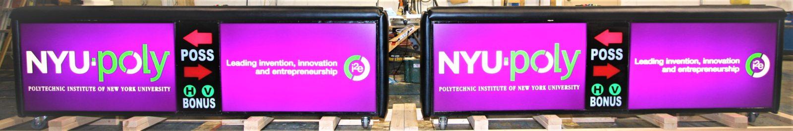 NYU Poly Freestand Scoring Tables