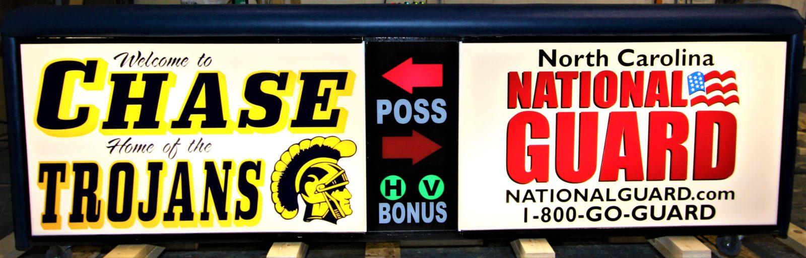 Chase High school scoring table North Carolina Army National Guard NCARNG