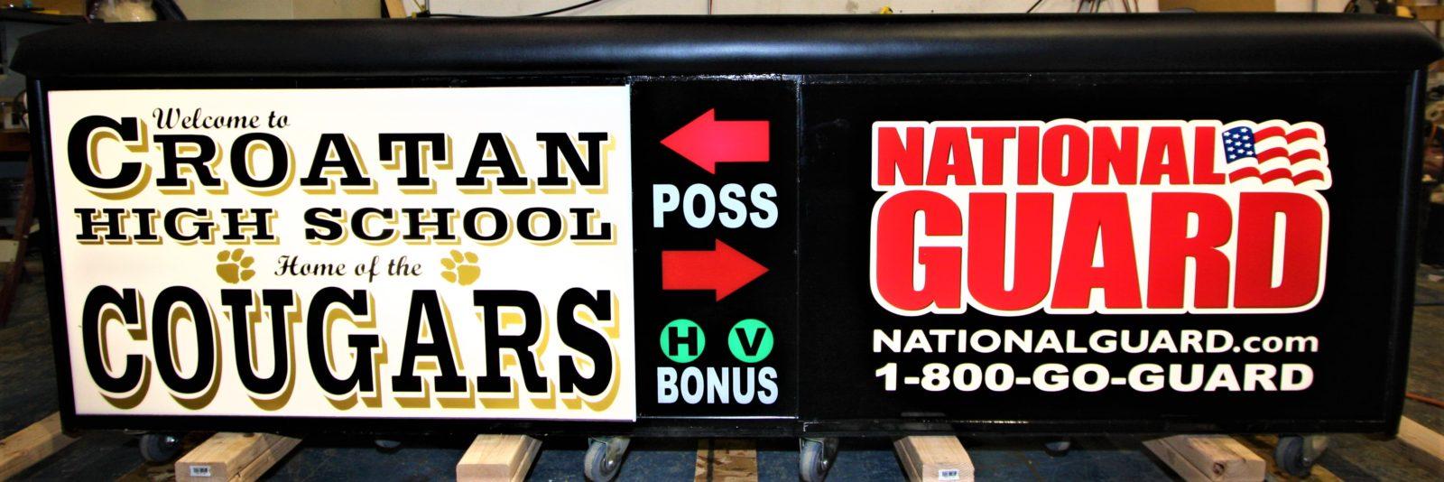 Croation high school scoring table North Carolina Army National Guard NCARNG