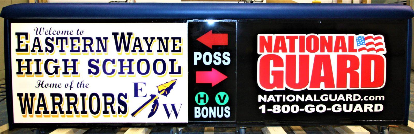 Eastern Wayne High school scoring table North Carolina Army National Guard NCARNG