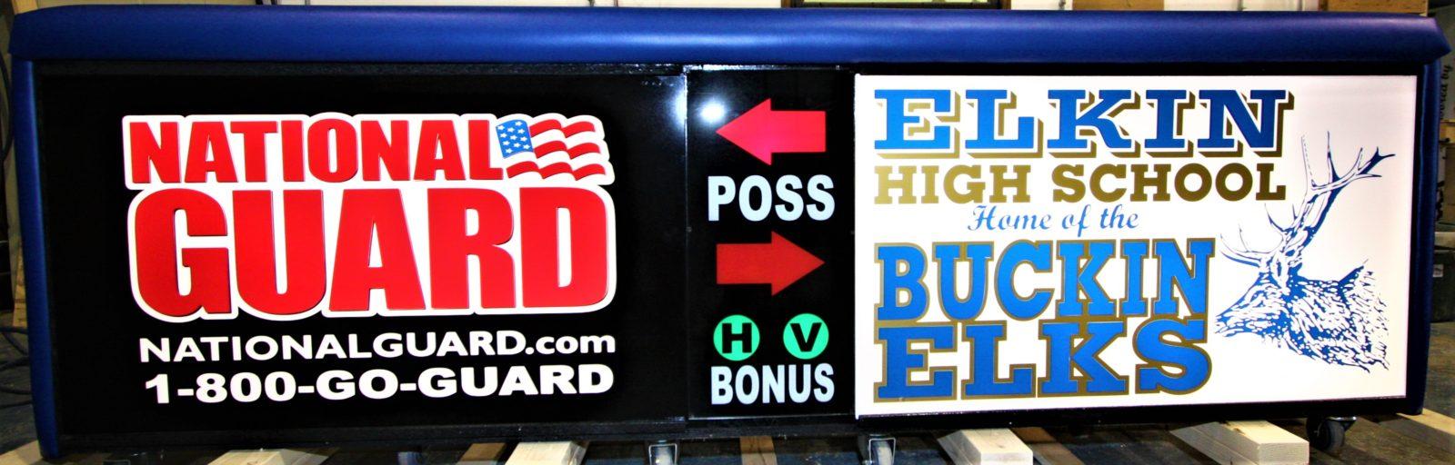 Elkin high school scoring table North Carolina Army National Guard NCARNG