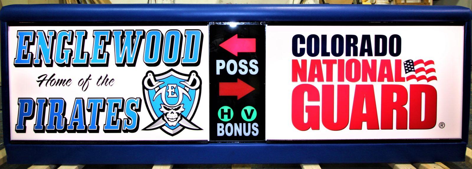 Engelwood High School scoring table Colorado Army National Guard COARNG