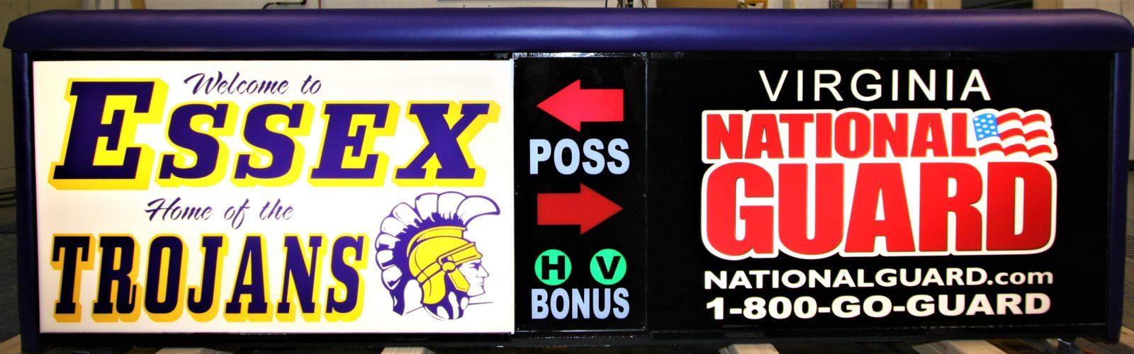 Essex High School Virginia Army National Guard scoring table