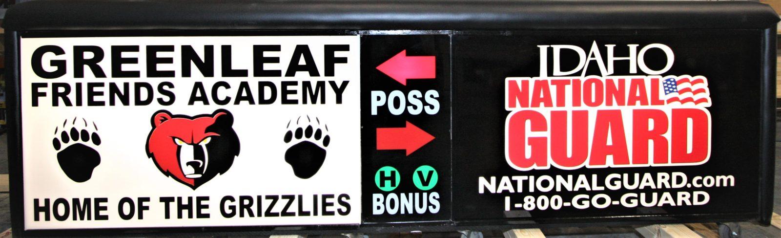 Greenleaf High School Idaho national Guard Scoring Table