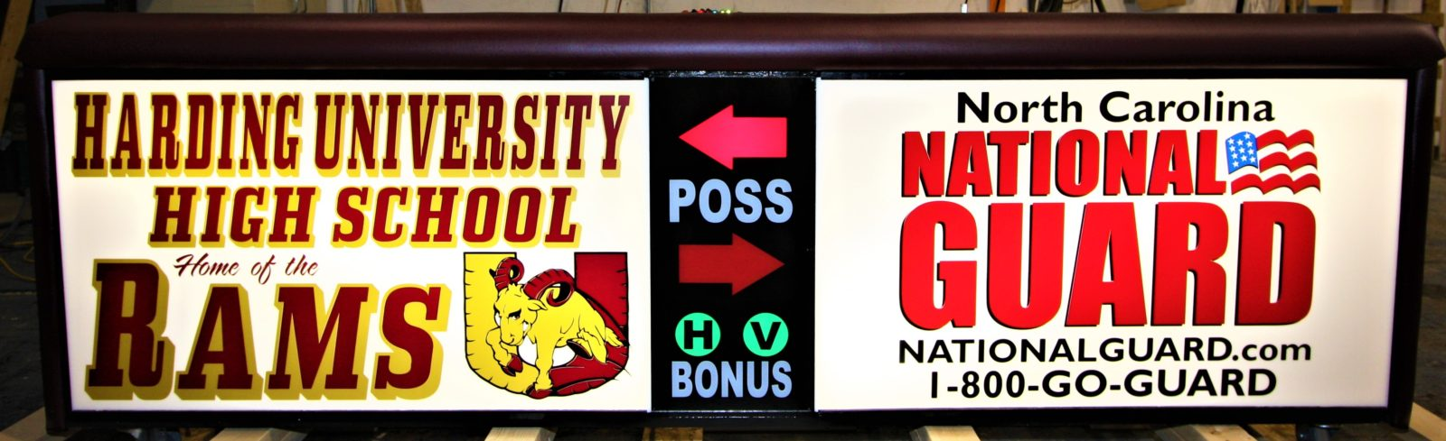 Harding University high school scoring table North Carolina Army National Guard NCARNG