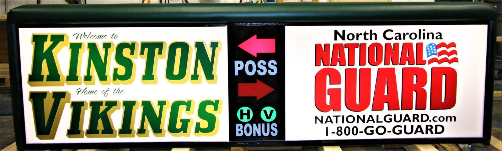 Kinston high school scoring table North Carolina National Guard NCARNG