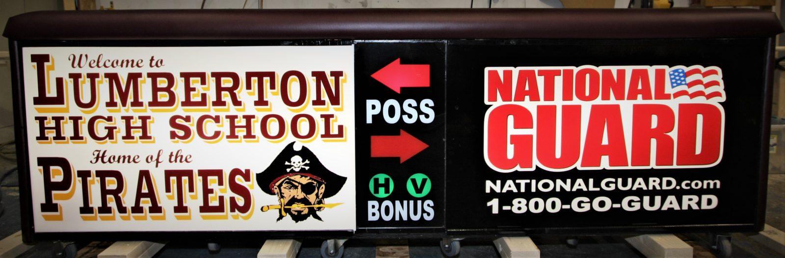 Lumberton high school scoring table North Carolina Army National Guard NCARNG