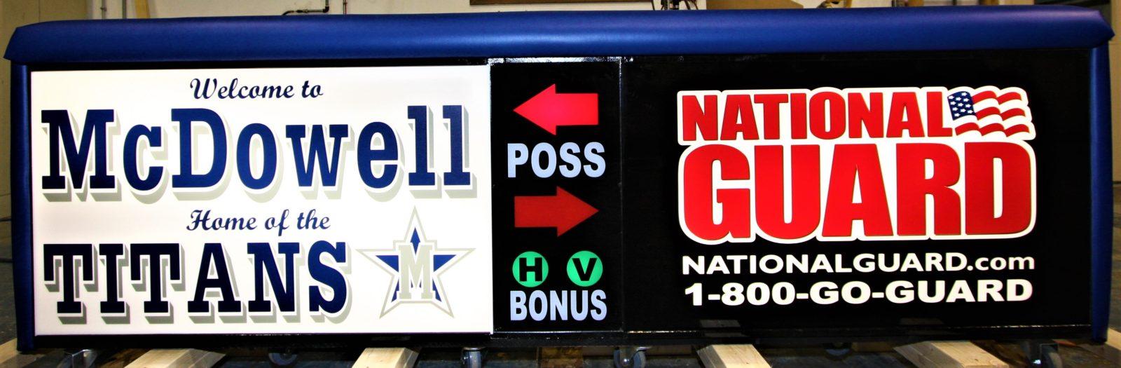 McDowell high scool scoring table North Carolina Army National Guard NCARNG