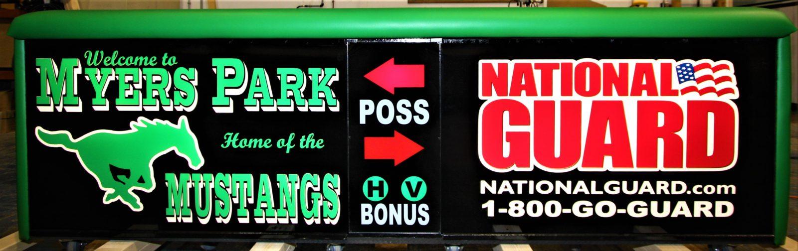 Meyers Park high school scoring table North Carolina Army National Guard NCARNG
