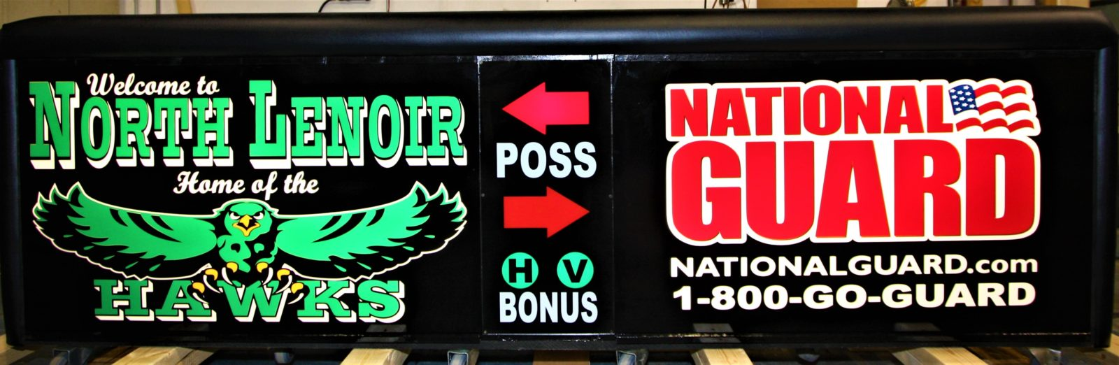 North Lenoir high school scoring table North Carolian Army National Guard NCARNG