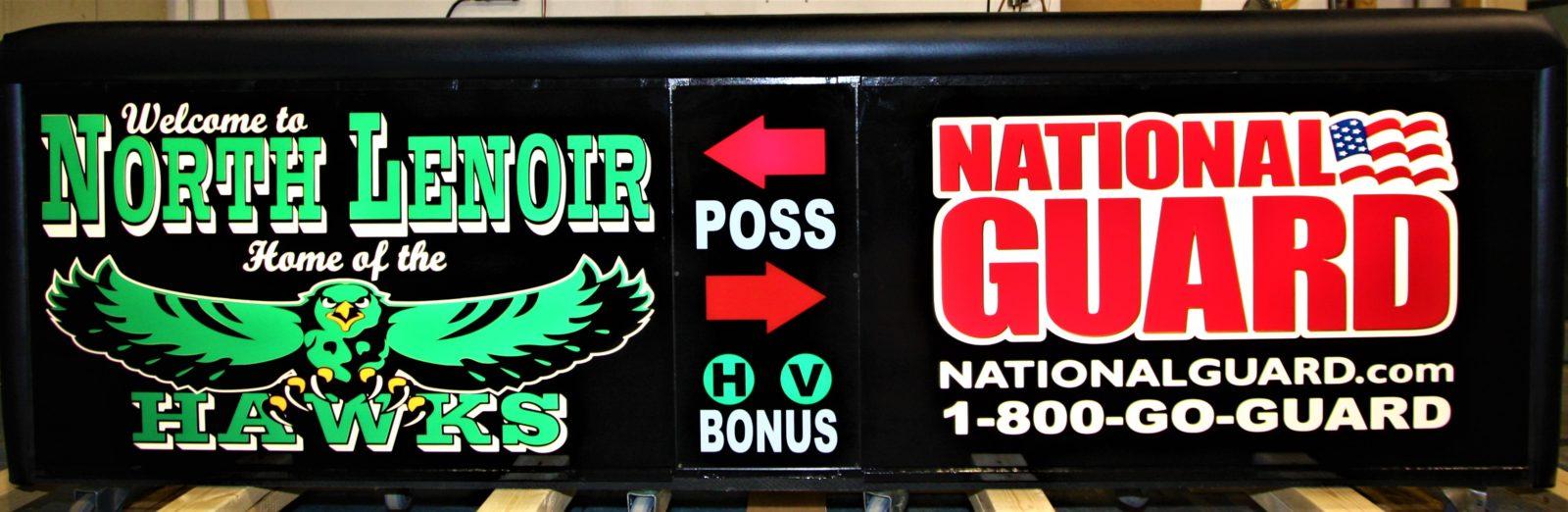 North Lenoir high school scoring table North Carolian Army National Guard NCARNG