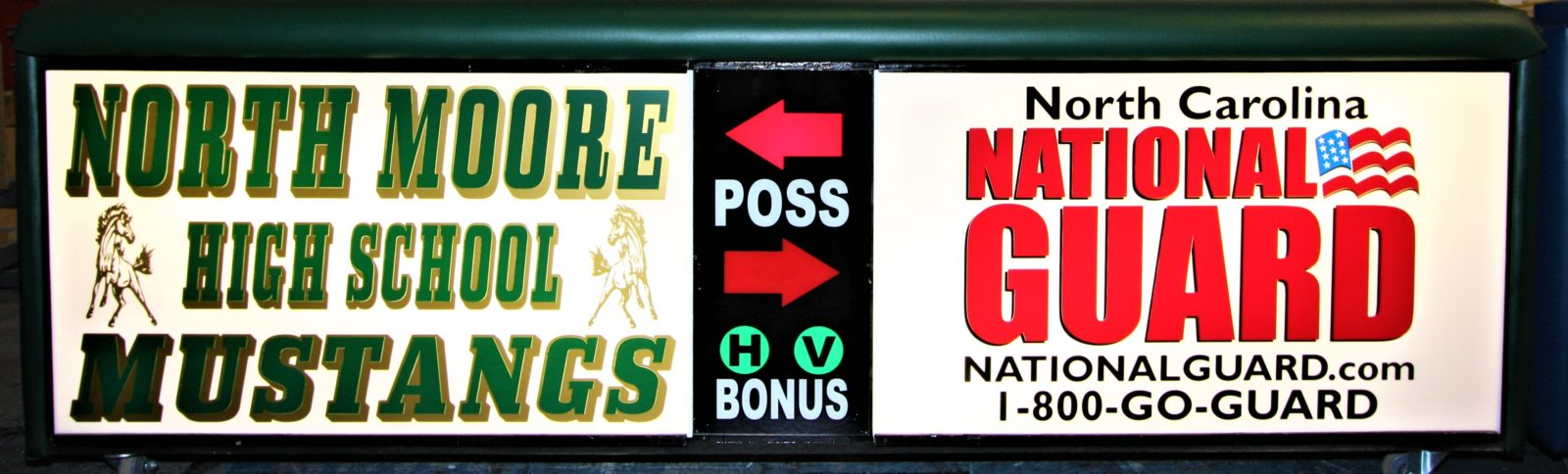 North Moore high school scoring table north carolina army national guard NCARNG