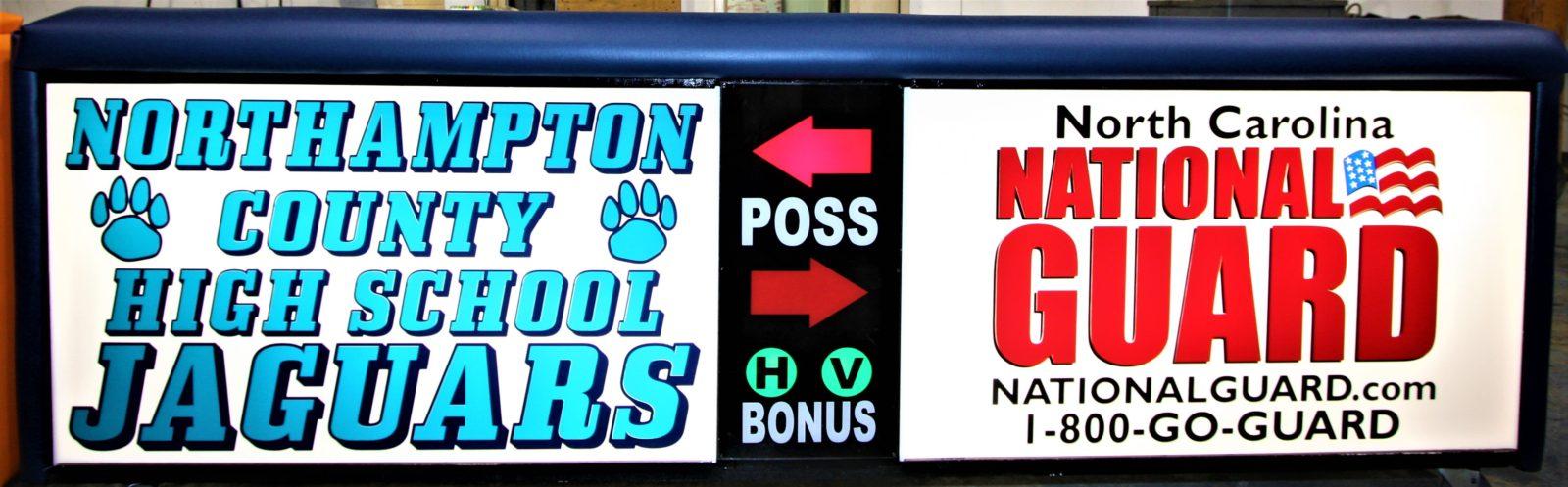 Northhampton high school scoring table North Carolina National Guard NCARNG