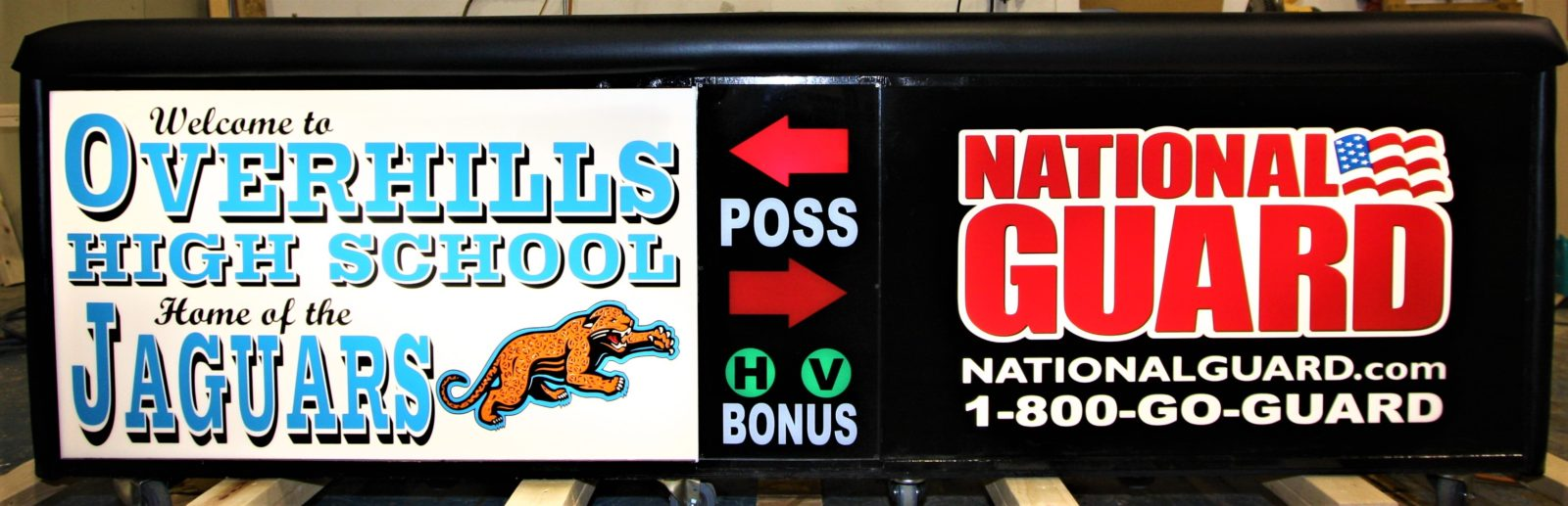 Overhills high school scoring table North Carolian Army National Guard NCARNG