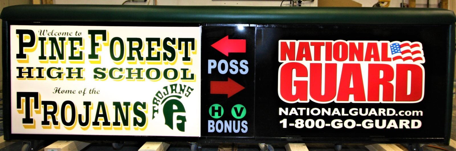Pine Forest high school scoring table North Carolina Army National Guard NCARNG