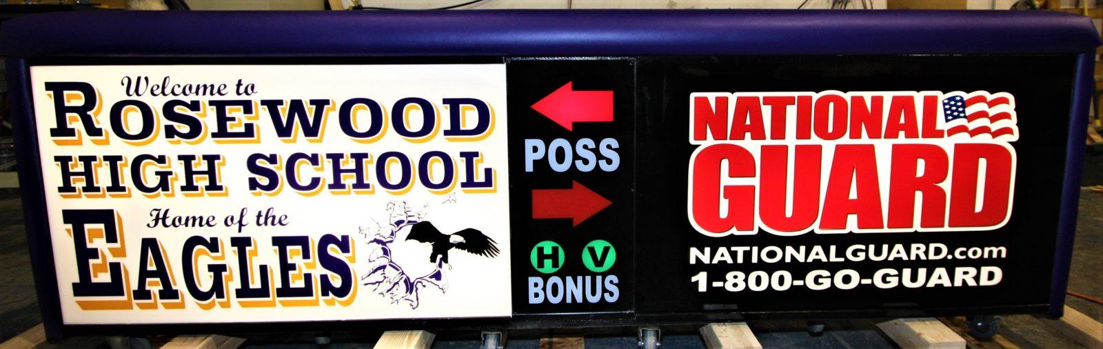 Rosewood high school scoring table North Carolina Army National Guard NCARNG