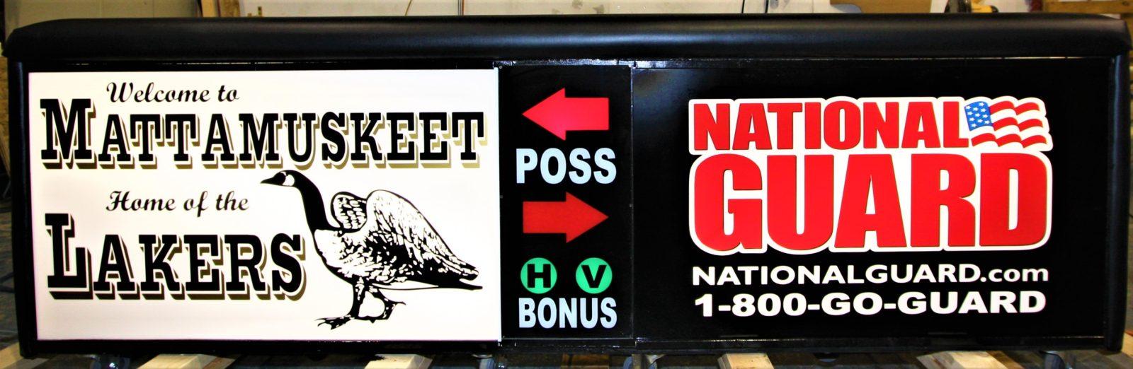 Scoring table North Carolina Army National Guard NCARNG