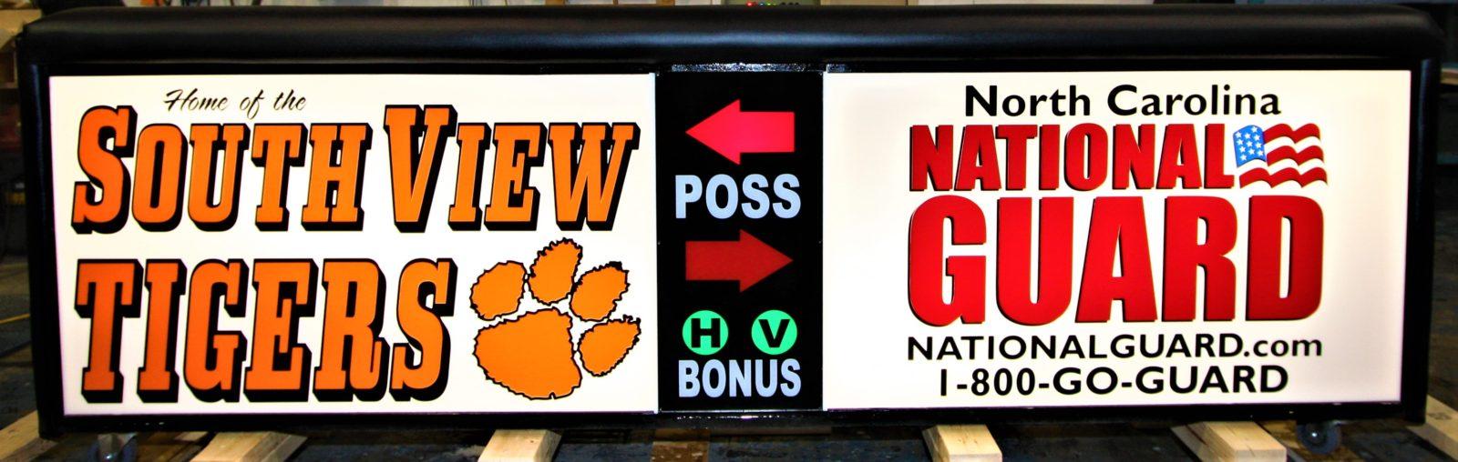 South View High School scoring table North Carolina Army National Guafrd NCARNG