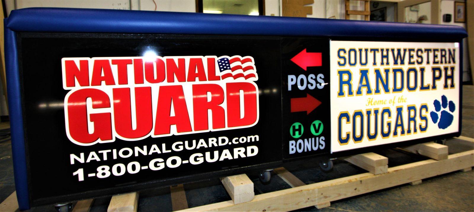 Southwestern high school scoring table North Carolina Army National Guard NCARNG