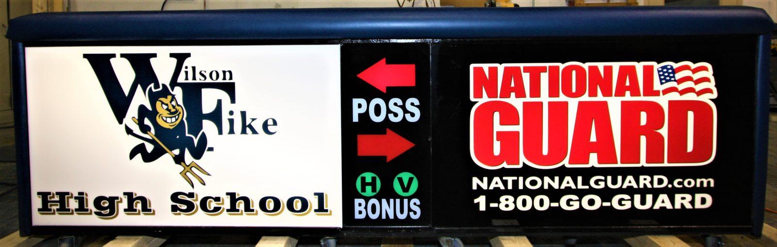 Wilson Fike high school scoring table North Carolina Army National Guard NCARNG