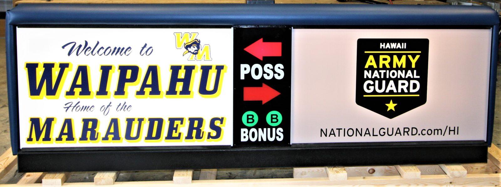 Waipahu High School Scoring Table HIARNG