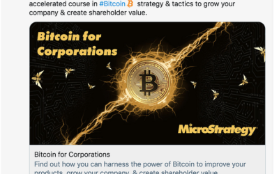 Bitcoin for Corporations – MicroStrategy to share playbook