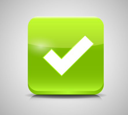 Vector Green Check Mark Icons