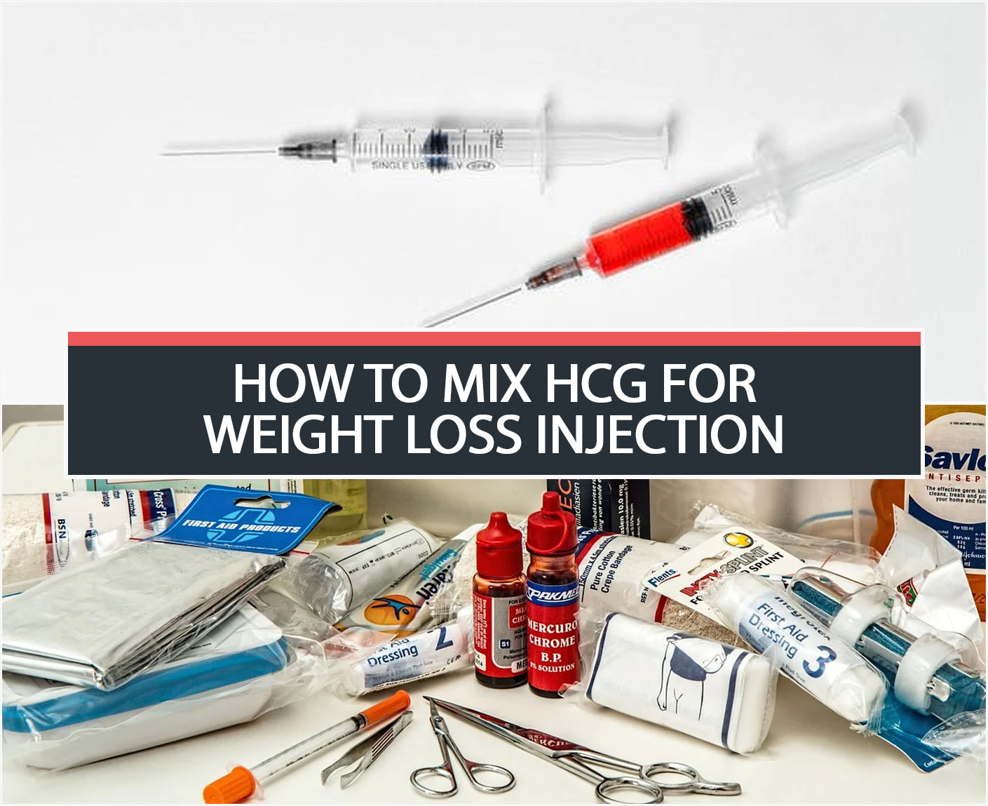 HOW TO MIX HCG FOR WEIGHT LOSS INJECTION?