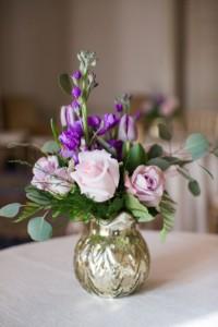 wedding gold flowers mercury