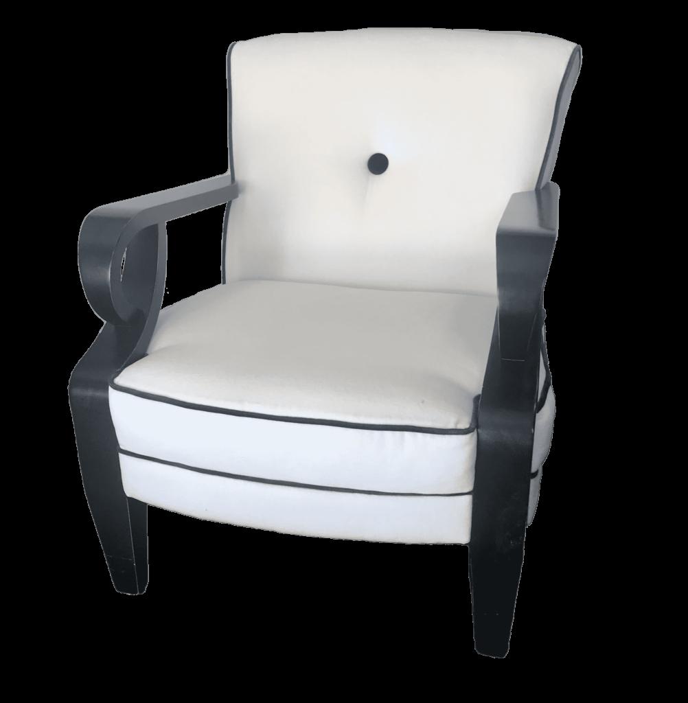 black navy armchair wedding lounge event rental
